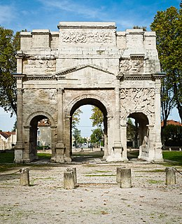 Triumphal Arch of Orange UNESCO World Heritage Site commemorating veterans of Romes Gallic Wars
