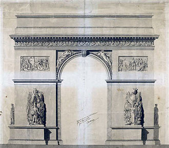 Jean Chalgrin - Chalgrin's drawing of the Arc de Triomphe, 1806.