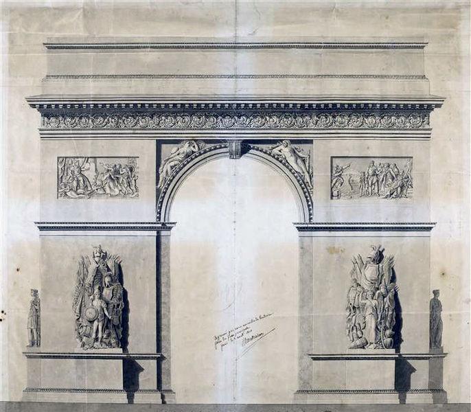 Arquivo: Arc de Triomphe de l'Etoile - Projet Chalgrin - 02.jpg