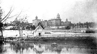 Arkansas State Hospital - Original Arkansas State Hospital building, 1891
