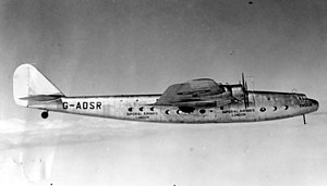 Armstrong Whitworth Ensign - Prototype G-ADSR in flight
