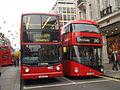 Arriva London bus DLA335 (LG52 DCY) & Metroline bus LT10 (LTZ 1010), route 390, 7 December 2013.jpg