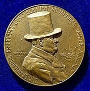 Art Nouveau Medal by Hans Schaefer of Edmund Guschelbauer, Vienna, Austria. Obverse