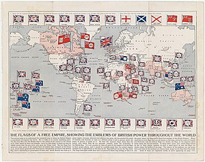 20th century - Map of the British Empire (as of 1910). At its height, it was the largest empire in history.