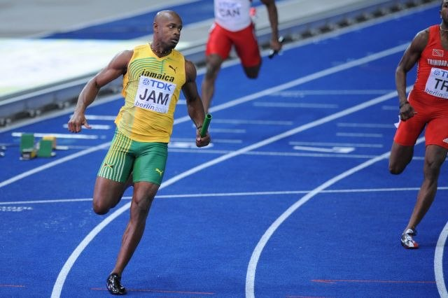 Asafa Powell 4x100 m final Berlin 2009