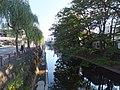 Asahikawa River, south side of 2chōme-bashi, Akita City.jpg