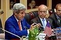 Assistant Secretary Russel Listens to Secretary Kerry at the National Convention Center in Vientiane (27921351084).jpg