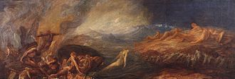 After the Deluge (painting) - Image: Assistants and George Frederic Watts Chaos Google Art Project