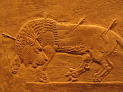 Assyrisk lejonjakt.
