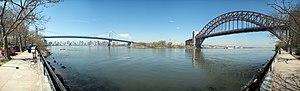 Astoria Park - Image: Astoria Park Panorama of Triborough and Hell's Gate Bridges