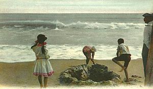 Salisbury, Massachusetts - Beach scene in 1906