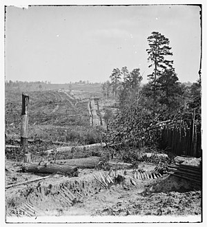 Atlanta in the American Civil War - Part of the fortifications surrounding Atlanta, Georgia, in 1864 during the Civil war.