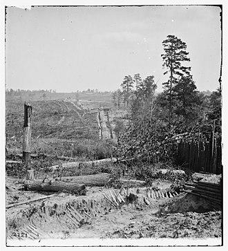 Atlanta in the American Civil War - Part of the fortifications surrounding Atlanta, Georgia, in 1864 during the Civil war.