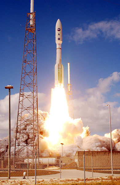 File:Atlas V 551 roars into blue sky.jpg