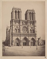 Auguste Hippolyte Collard, Notre-Dame de Paris, façade ouest et parvis, 1890 01.jpg