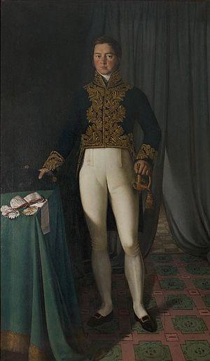 Augustus Foster - Portrait by Christian Albrecht Jensen (1825).