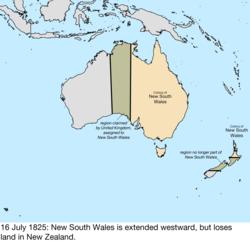 Australia Land Map.Territorial Evolution Of Australia Wikipedia