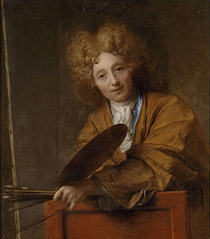 1717 in France - Jean-Baptiste Santerre, self-portrait
