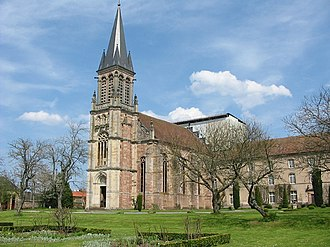 Autrey, Vosges - The abbey and gardens in Autrey