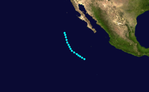 1962 Pacific hurricane season - Image: Ava 1962 track