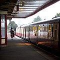 Aviemore Station - view of Strathspey Railway train on island platform.jpg