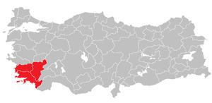 Aydın Subregion - Image: Aydin Subregion