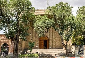 Azerbaijan Museum - Entrance Iwan of Azerbaijan Museum.