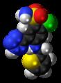 Azosemide molecule spacefill.png