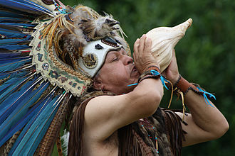 Neoshamanism - Jorge Nopaltzin Guaderrama, a modern Aztec shaman. Aztec culture had a complex priesthood, not shamans, and the contemporary Aztec shamanic revival represents a form of neoshamanism.