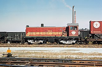 ALCO S-5 - Image: B&M 864 in North Station yards, September 1965