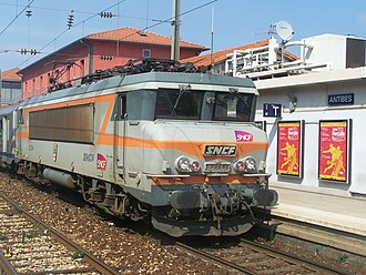 SNCF Class BB 22200 - 22394 at Antibes station (2006)
