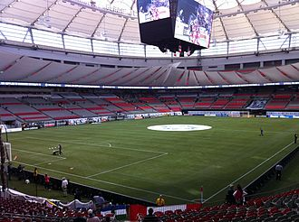 BC Place - The new BC Place prior to a Whitecaps match