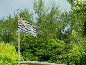 Flag of the British Indian Ocean Territory - Image: BIOT flag flying at full mast