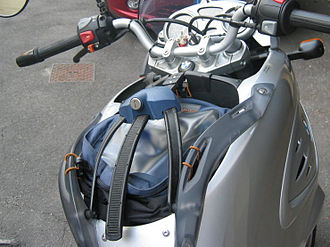 BMW F650CS - One of the F650CS removable bag options.