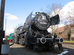 Kriegslokomotive - The best-known and the most produced German war locomotive, or Kriegslokomotive: DRB Class 52