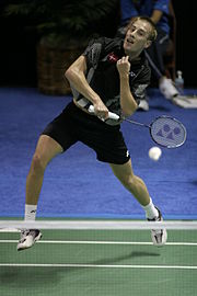 The Danish Olympic badminton player Peter Gade