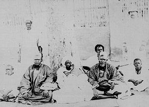 Soninke people - Diobé, ruler of Soninke colonial era town of Bakel, with his advisors (1887-1888)