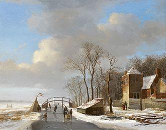 Hendrik van de Sande Bakhuyzen - Winter landscape