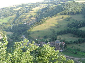 Balaguier-sur-Rance - Balaguier-sur-Rance seen from the nearby hillside