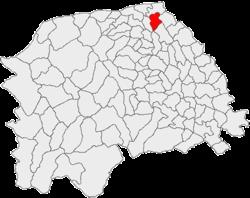 Amplasarea �n cadrul județului