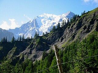 Balmhorn mountain in Switzerland