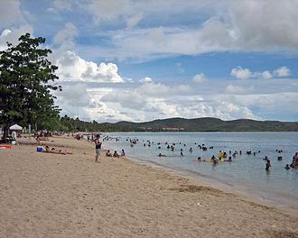 Boquerón, Cabo Rojo - The Boquerón public beach, looking south.
