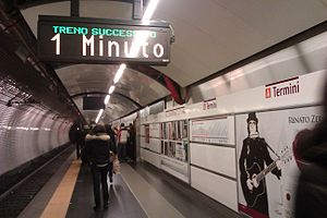 Termini (Rome Metro) - Line A station platform