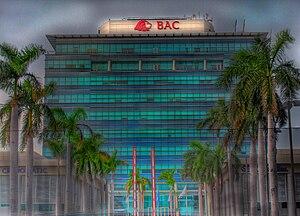 Banco de América Central - Main BAC building in Managua, 2007