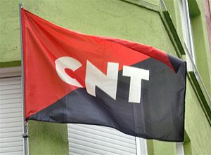 English: CNT flag Español: Bandera de la CNT
