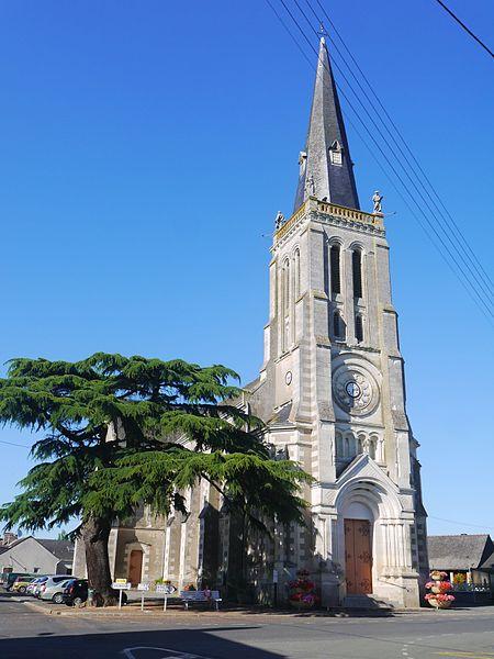 L'église Saint-Aubin en 2016.