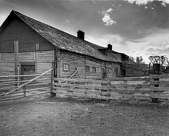 National Register of Historic Places listings in Albany County, Wyoming - Image: Barn at Oxford Horse Ranch