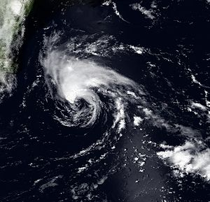 1995 Atlantic hurricane season - Image: Barry 7 July 1995