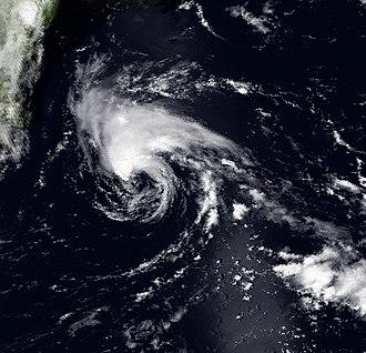 1995 Atlantic hurricane season - Image: Barry 7 July 1995