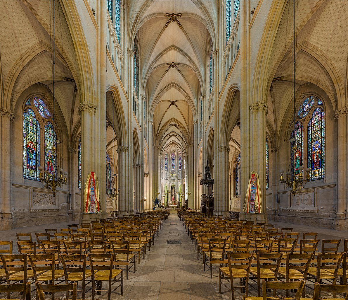File:Basilica of Saint Clotilde Interior, Paris, France